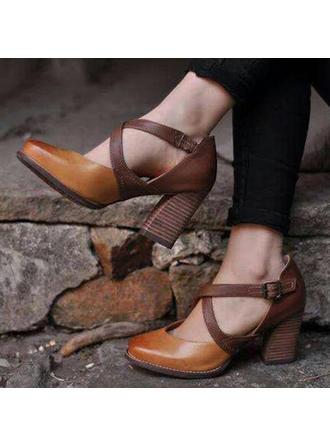 Dla kobiet PU Obcas Stiletto Sandały Czólenka Z Klamra obuwie