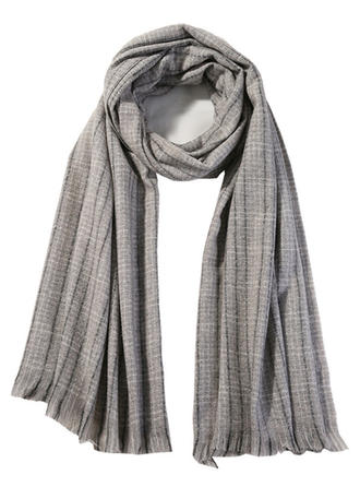 Striped/Tassel Light Weight/simple Scarf