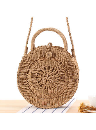 Hollow Paper Rope Shoulder Bags/Beach Bags/Bucket Bags