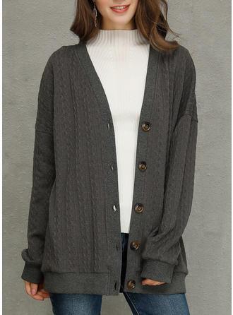 Cotton Blends Plain Wide-Waisted Coats
