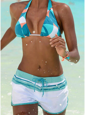 Hoge Taille Halter Sport Vintage Bikini's Badpakken