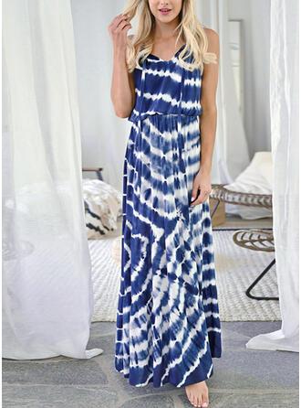 Print Sleeveless Sheath Casual/Vacation Maxi Dresses