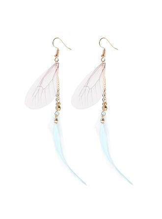Chic Alliage Feather Femmes Boucles d'oreille de mode
