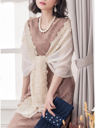Blommig Sjal Poncho