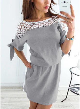 1/2 Sleeves A-line Above Knee Casual Dresses