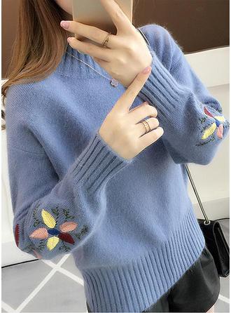 Polyester Crew Neck Plain Sweater