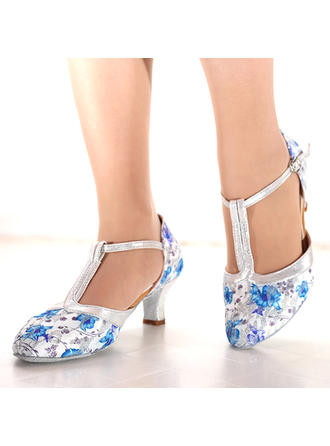 Women's Mesh Heels Latin Dance Shoes