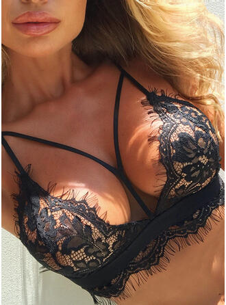 Lace Sexy Deep V Underwear Wireless T-shirt Bralette Bra