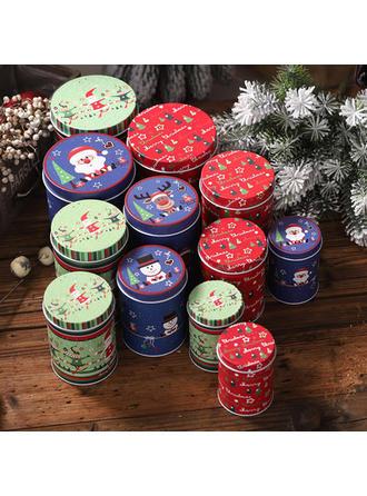boldog Karácsonyt Fém Candy üvegek (4-es készlet)
