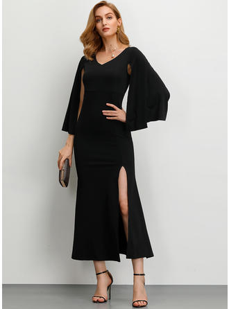 Solid Long Sleeves Sheath Maxi Party/Elegant Dresses