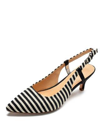 Women's Fabric Stiletto Heel Sandals Pumps shoes