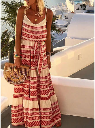 Print Sleeveless A-line Maxi Casual/Vacation Dresses