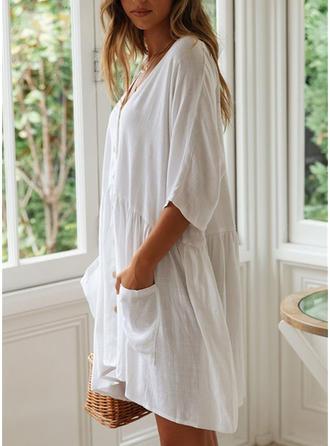 Jednobarevné Sexy Elegantní Módní Přehozy Costume de baie