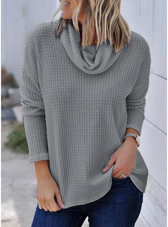 Plain Cowl Neck Sweaters