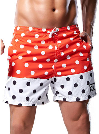 Men's Dot Swim Trunks