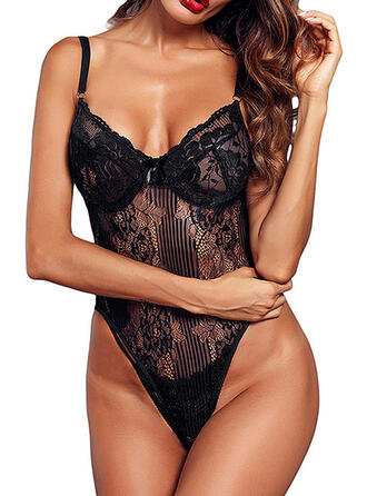 Polyester Lace Teddy (1028291940)