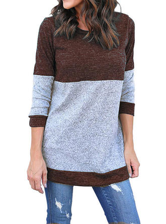 Couleurs Opposées Col rond Robe Pull