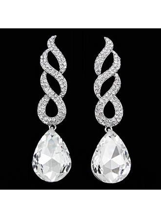 Сяючий Сплав з Сіяючі камені Жіночі Модні сережки