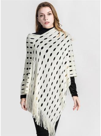 Color sólido de gran tamaño/moda Poncho