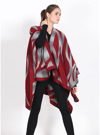 Striped Oversized/Cold weather Poncho