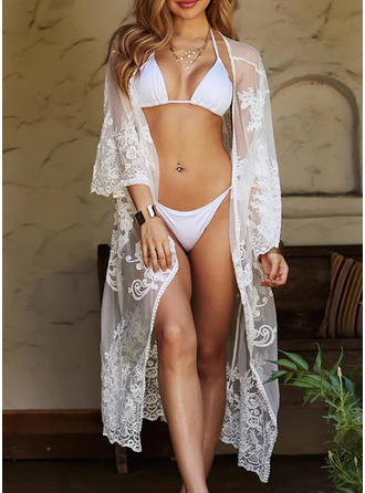 Solid Color Sexy Bohemian Cover-ups Swimsuits