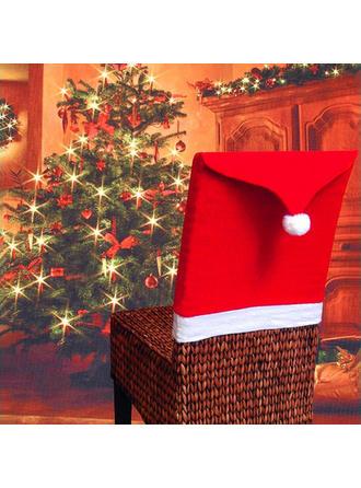 Feliz Navidad Tela no tejida Cubierta de la silla