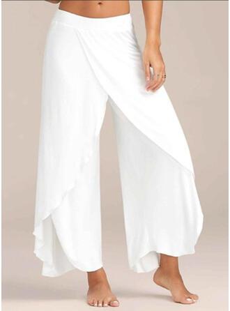 Marszczona Duży rozmiar Długo Boho Nieformalny Seksowny Spodnie