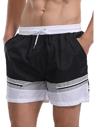 Men's Splice color Quick Dry Swim Trunks