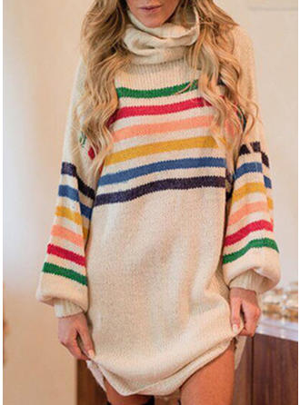 Striped Turtleneck Sweaters