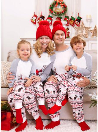 Rentier Farbblock Druck Passende Familie Christmas Pajamas