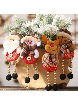Monigote de nieve Reno Papa Noel Navidad Colgando Pierna larga Tela Adornos colgantes de árboles