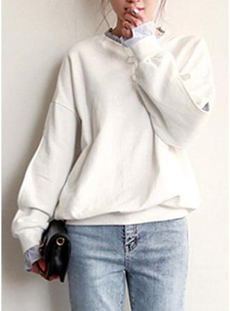 polyester Solid färg lappverk Tröjor
