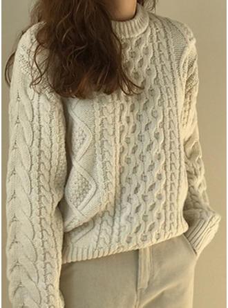 Cotton Round Neck Striped Sweater