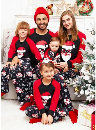 Père Noël Letter Imprimé Tenue Familiale Assortie Pyjama De Noël