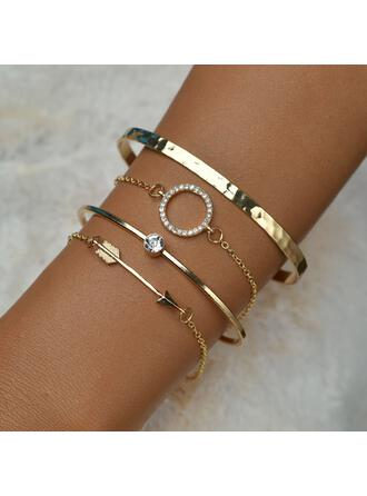 Vintage Layered Alloy Bracelets (Set of 4)