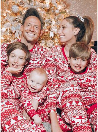 Rendier Print Voor Gezinnen Kerst Pyjamas