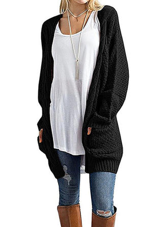 Tricot Waffle Poches Cardigan