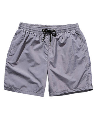 Pour des hommes Couleur unie Doublé Shorts de bain