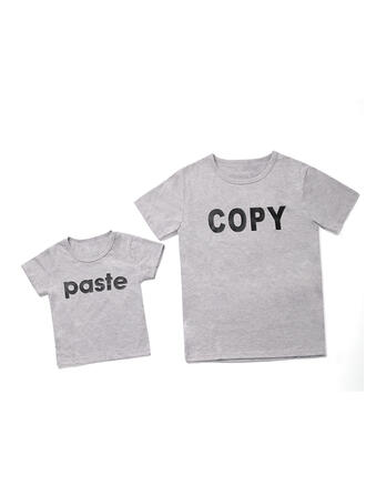 Daddy and Me Print Matching T-Shirts