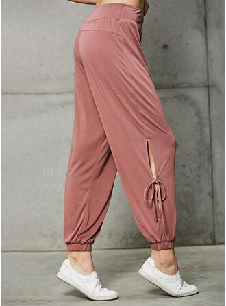 Solid Long Long Solid Sporty Yoga Pants