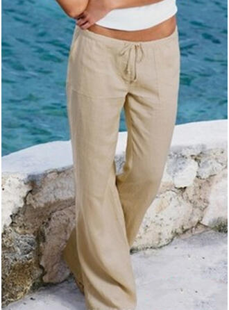 tasche arricciato Taglia grossa Lungo Boho Casuale Lungo Pantaloni