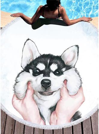 cachorro grande demais/attractive toalha de praia