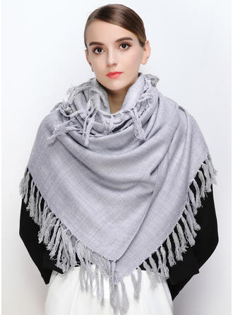 Solid Color Oversized/Shawls Wool Scarf
