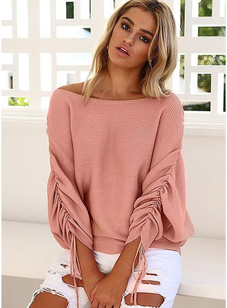 Cotton Boat Neck Plain Sweater