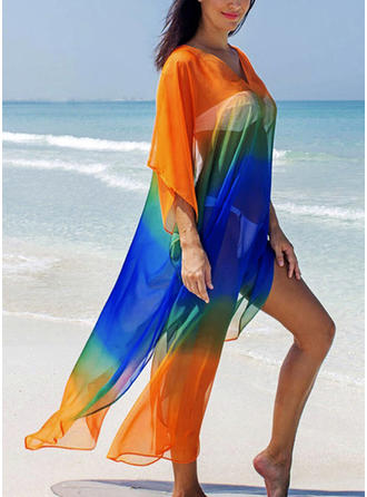 Solid Color Sexy Elegant Cover-ups Swimsuits
