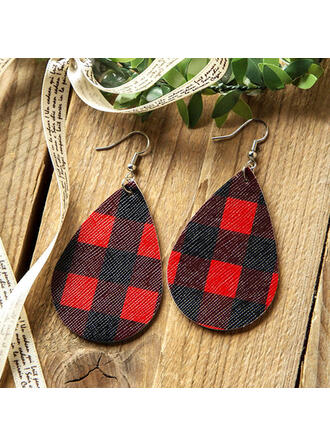 Drop Shape Christmas PU Women's Earrings 2 PCS