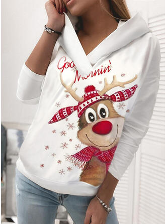 Animal Print Long Sleeves Christmas Sweatshirt