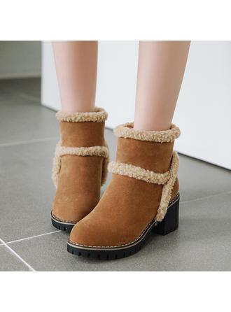 Dla kobiet Skóra ekologiczna Obcas Slupek Kozaki Botki Buty zimowe obuwie
