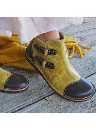 Kvinder PU Flad Hæl Støvler med Lynlås sko