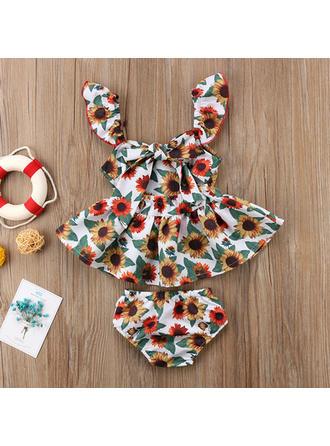 Bébé & Bambin Fille Imprimé floral Coton Short,Sommet Définir La Taille